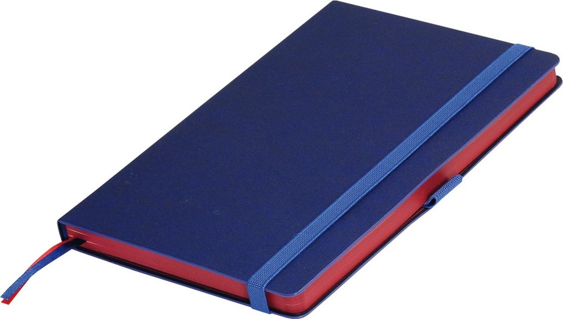 Portobello Trend Ежедневник недатированный Blue Ocean 128 листов цвет синий красныйLXX1401148-060/1Жесткая обложка синего цвета выполнена из материала новаторских технологий. Искусственная кожа тактильно похожа на фактуру бумаги - на ощупь шелковистая, с еле заметным рельефом хорошо выделанной гладкой кожи. Цвет – неоднородный, с переливами от очень темных до светлых тонов. Эффектно выглядит сочетание базового синего цвета обложки с яркими тонами форзаца и среза.