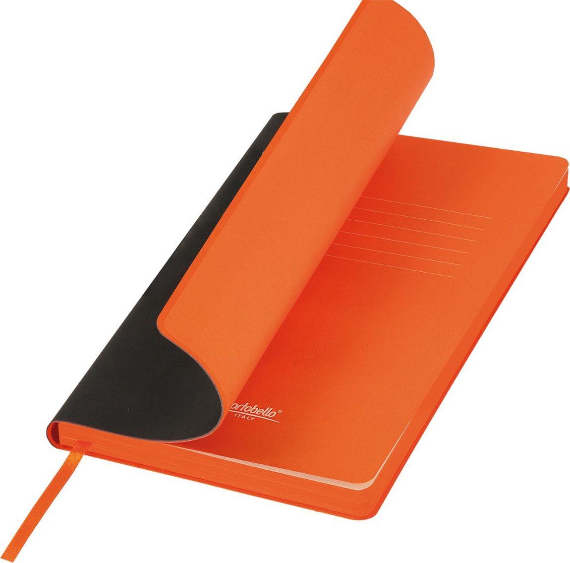 Portobello Trend Ежедневник недатированный Latte 128 листов цвет черный оранжевыйLXX1501254-010/1Мягкая матовая обложка выполнена из бархатистой искусственной кожи. Цвет – однородный, глубокий, слегка припудренный. На ощупь – теплая, слегка прорезиненная. Яркая находка – контрастное сочетание обложки и среза. Цвет форзаца и цвет среза – совпадают. Есть ляссе.