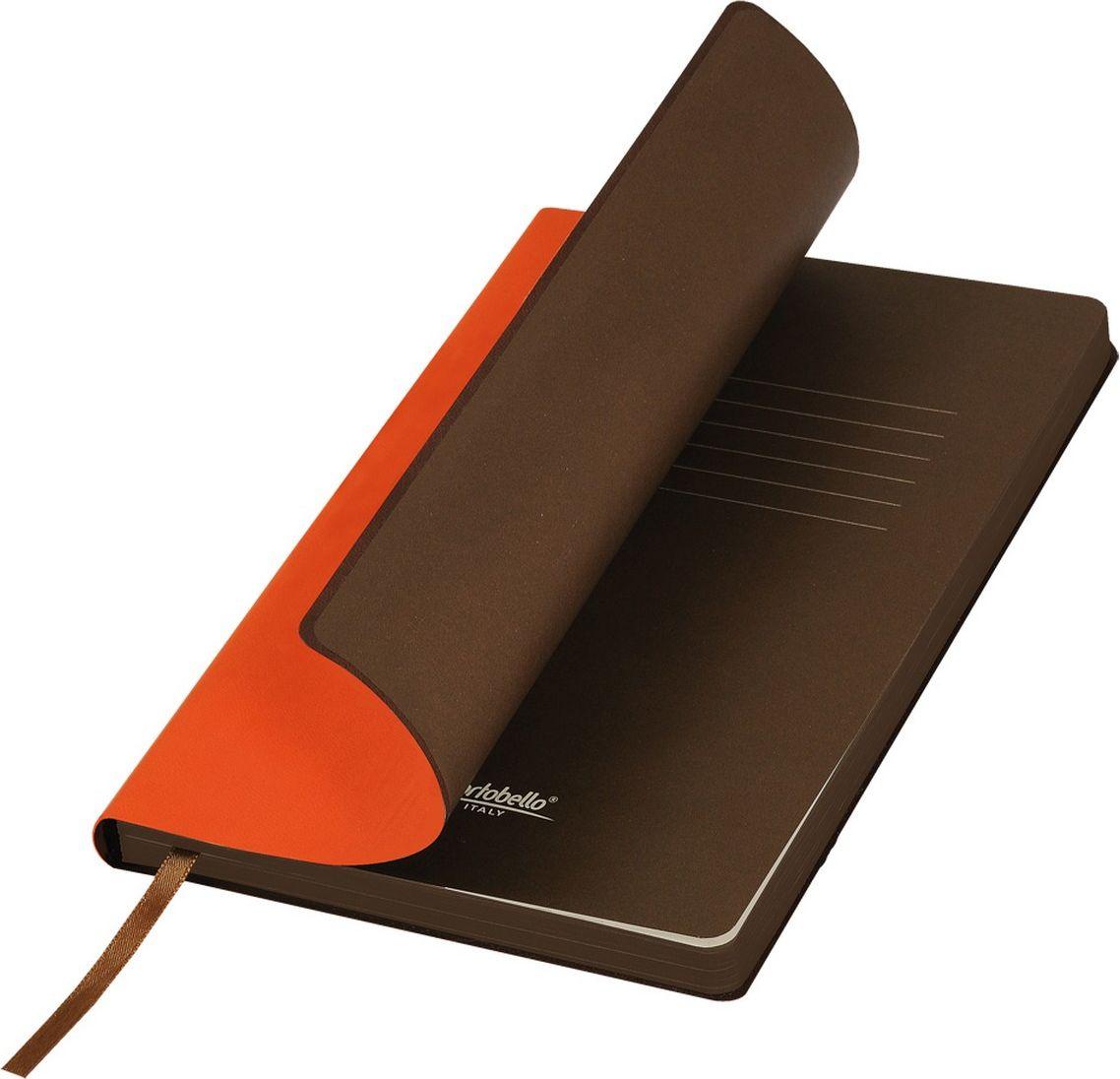 Portobello Trend Ежедневник недатированный Latte 128 листов цвет оранжевый коричневыйLXX1501254-070/1Мягкая матовая обложка выполнена из бархатистой искусственной кожи. Цвет – однородный, глубокий, слегка припудренный. На ощупь – теплая, слегка прорезиненная. Яркая находка – контрастное сочетание обложки и среза. Цвет форзаца и цвет среза – совпадают. Есть ляссе.