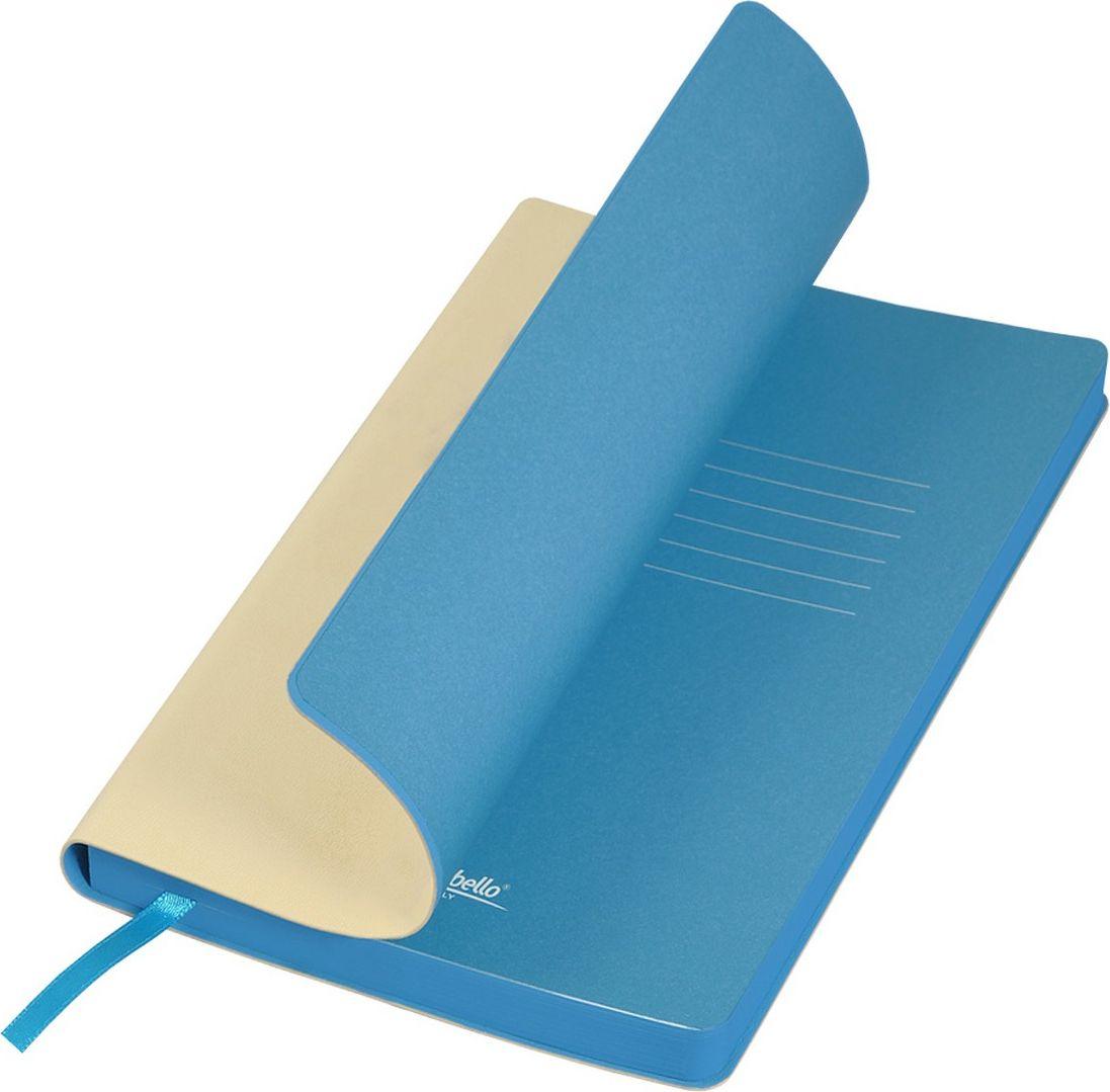 Portobello Trend Ежедневник недатированный Latte 128 листов цвет бежевый голубойLXX1501254-525/1Мягкая матовая обложка выполнена из бархатистой искусственной кожи. Цвет – однородный, глубокий, слегка припудренный. На ощупь – теплая, слегка прорезиненная. Яркая находка – контрастное сочетание обложки и среза. Цвет форзаца и цвет среза – совпадают. Есть ляссе.