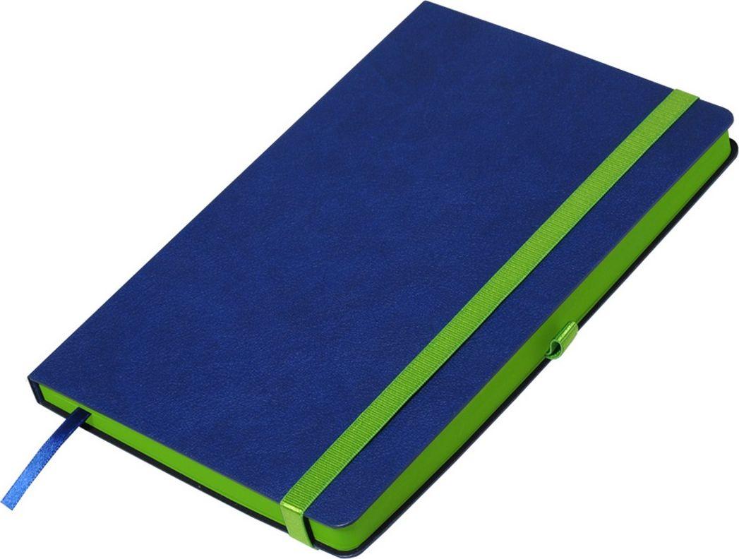 Portobello Trend Ежедневник недатированный Aurora 128 листов цвет синий зеленыйLXX1601262-040/1Жесткая матовая с легким блеском обложка, мелкий рельефный рисунок под кожу. Фактура на ощупь теплая и шелковистая.Особенностью коллекции является резинка-фиксатор контрастного к обложке цвета, срез и форзацы в цвет резинки.