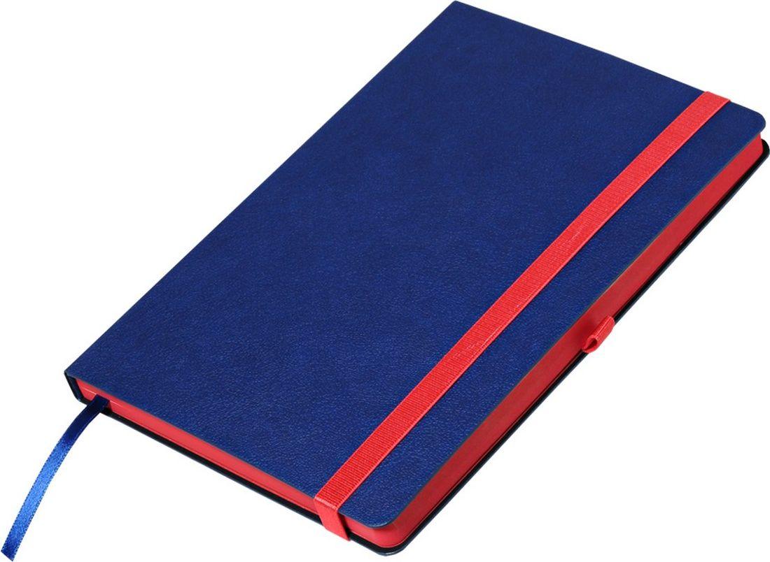 Portobello Trend Ежедневник недатированный Aurora 128 листов цвет синий красныйLXX1601262-060/1Жесткая матовая с легким блеском обложка, мелкий рельефный рисунок под кожу. Фактура на ощупь теплая и шелковистая.Особенностью коллекции является резинка-фиксатор контрастного к обложке цвета, срез и форзацы в цвет резинки.