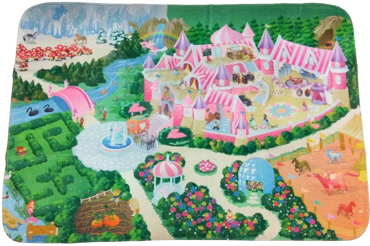 Teplokid Коврик для детской ЗамокTK-US-02Подарите своему ребенку Замок и пусть ваша маленькая принцесса или подрастающий рыцарь станут владельцами настоящей усадьбы с парками, аллеями, собственной конюшней и цветущим садом. Игровая поверхность коврика с мягким покрытием и отличной теплоизоляцией не только обеспечивает уютное место для игры, но и знакомит детей с особенностями ландшафтного устройства. Большая площадь коврика с нанесенным рисунком позволяет прогуляться по дорожкам настоящего средневекового поместья, поселить игрушечную лошадку в огороженный загон или принимать гостей в саду у фонтана. Размер игрового коврика: 180 х 130 см.