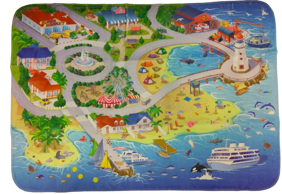 Teplokid Коврик для детской На пляжеTK-US-03Пусть ваш малыш отдыхает и играет на собственном Пляже. Мягкий, просторный коврик с нанесенным рисунком курортного побережья создаст в комнате солнечное настроение летнего отдыха. Кроме тепла и уюта, занимательная игровая поверхность позволит ребенку ознакомиться с особенностями жизни курортных и припортовых поселений: прокатится на машинке узкими улочками, посетить маяк, встретить прибывающий теплоход или развлечься с любимым игрушками на песчаном пляже.