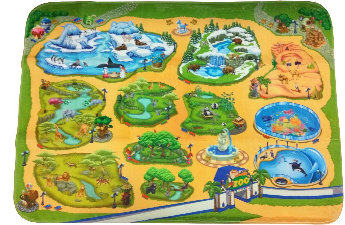 Teplokid Коврик для детской ЗоопаркTK-US-04Устройте интересный и развивающий Зоопарк в детской комнате! Большой игровой коврик, изготовленный из безопасных теплоизоляционных материалов, обеспечивает теплую, уютную атмосферу для отдыха и благоприятную обстановку для познавательных игр. Яркие и детальные рисунки на коврике знакомят малышей с представителями фауны, средой их обитания и особенностями содержания животных в неволе. Собственный Зоопарк с нанесенными климатическими зонами помогают малышам лучше понять окружающую природу и жизненные условия в разных уголках нашей планеты.