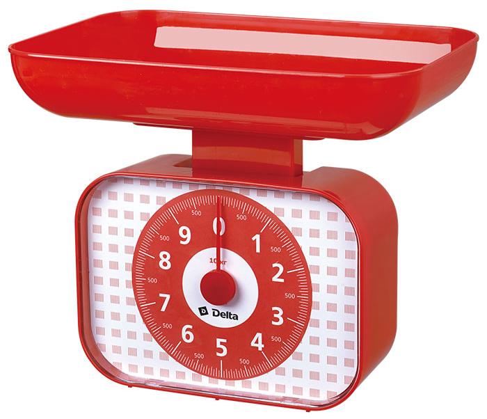 Delta КСА-105, Red весы кухонные0R-00000225Весы бытовые настольные 10 кг DELTA КСА-105 с чашей Предельная масса взвешивания 10 кгЦена деления 50 гТип: механическиеКорпус и чаша из высококачественного цветного пластикаТочная регулировка нулевого значенияАксессуары:Чаша для взвешивания