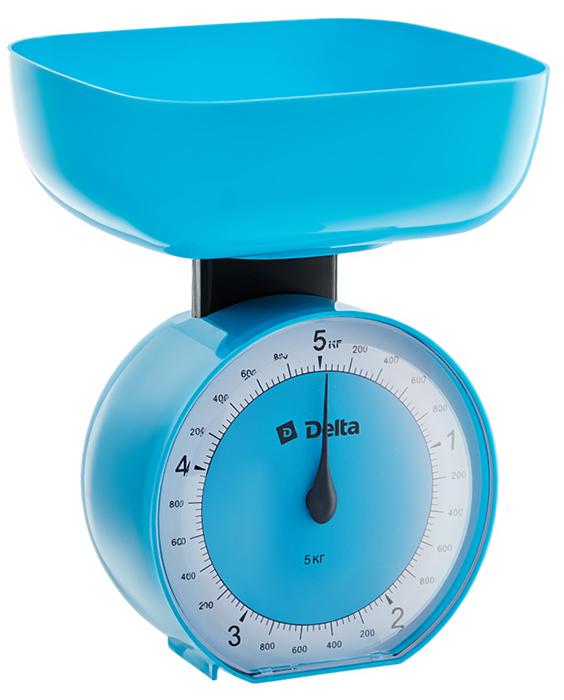Delta КСА-104, Blue весы кухонные0R-00000222Весы бытовые настольные 5 кг DELTA КСА-104 с чашей Предельная масса взвешивания 5 кг Цена деления 40 г Тип механические Корпус и чаша из высококачественного цветного пластика Точная регулировка нулевого значения Аксессуары Чаша для взвешивания