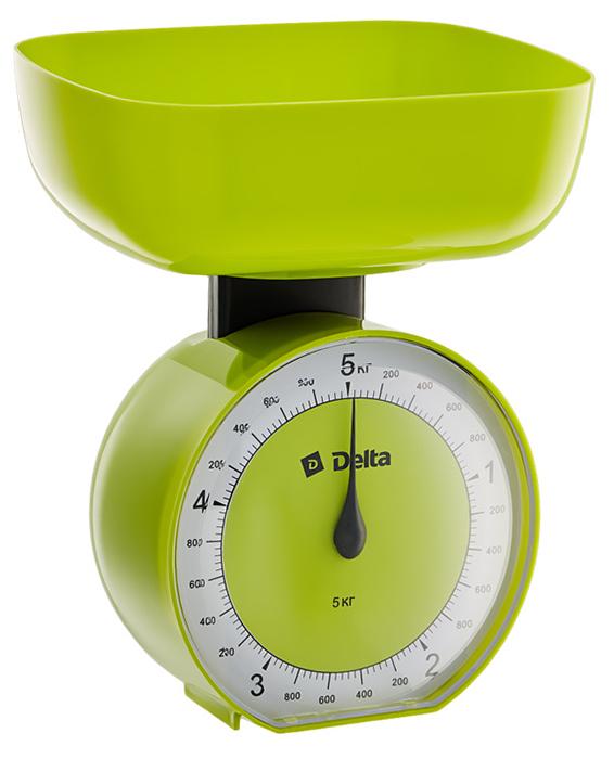 Delta КСА-104, Green весы кухонные0R-00000220Весы бытовые настольные 5 кг DELTA КСА-104 с чашейПредельная масса взвешивания 5 кгЦена деления 40 гТип механическиеКорпус и чаша из высококачественного цветного пластикаТочная регулировка нулевого значенияАксессуарыЧаша для взвешивания