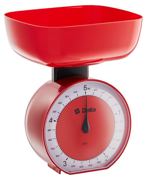 Delta КСА-104, Red весы кухонные0R-00001628Весы бытовые настольные 5 кг DELTA КСА-104 с чашейПредельная масса взвешивания 5 кгЦена деления 40 гТип механическиеКорпус и чаша из высококачественного цветного пластикаТочная регулировка нулевого значенияАксессуарыЧаша для взвешивания