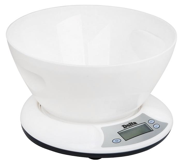 Delta КСЕ-01, White весы кухонные