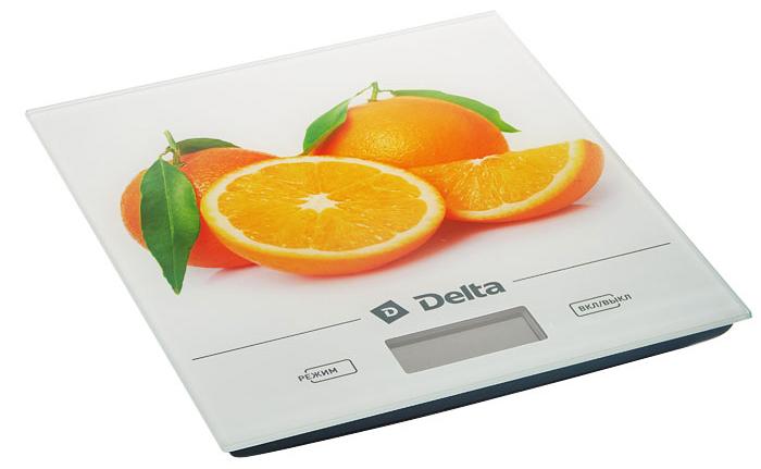 Delta КСЕ-28 Апельсин весы кухонные0R-00001717Весы электронные настольные DELTA КСЕ-28 АпельсинПредельная масса взвешивания 5 кг Точность взвешивания ± 1 г Размер весов 20х18х1,5см Платформа из упрочненного стекла LCD дисплей Индикатор уровня заряда батареи и перегрузки весов Функция измерения объема жидкости: молоко, вода Функция сброса веса тары Выбор единицы измерения Автообнуление/автоотключение Электропитание: 2?1,5 В батарея типа ААА (в комплекте)