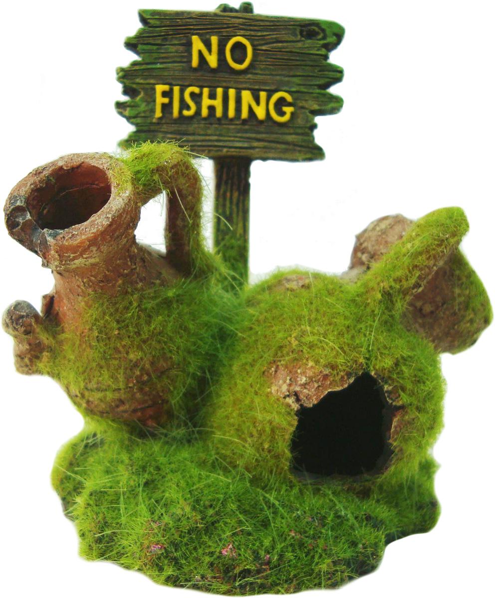 Грот Meijing Aquarium Рыбалка запрещена. SP-032SP-032Аквариумный грот – это отличный элемент дизайна. Оригинальные аквариумные украшения придают подводному ландшафту завершенный вид, что крайне важно, ведь одной из главнейших функций аквариума в интерьере является функция эстетическая. Но декорация-грот – это еще и прекрасное укрытие для рыбок и иных обитателей подводного мира. Особенно – в том случае, если кто-либо из ваших питомцев проявляет излишнюю агрессивность по отношению к соседям. В таком случае грот для аквариума окажется совершенно незаменимым. Грот Meijing Aquarium прекрасно впишется в любой интерьер аквариума. А в сочетании с другими элементами декора сделает среду обитания ваших рыбок максимально приближенной к морской среде. Декорация абсолютно безвредна для рыб и растений. Грот тонет и не требует дополнительной фиксации в аквариуме. Может использоваться как в пресной, так и в морской воде. Изделие не токсично, не тускнеет и не теряет цвета, краска не облазит.