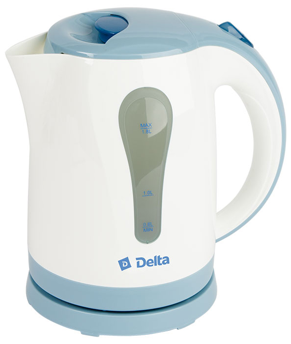 Delta DL-1017, White Blue чайник электрический delta lux dl 712 white gray blue утюг