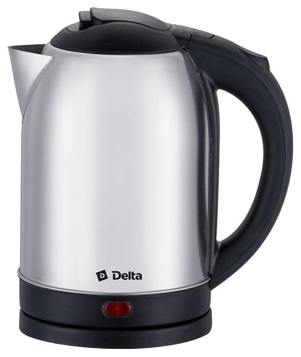 Delta DL-1213/M чайник электрический0R-00000188Чайник электрический 1.8л DELTA DL-1213/M Объем 1,8 л Максимальная мощность 1500 Вт Закрытый нагревательный элемент Корпус из высококачественной нержавеющей стали Вращение корпуса на 360° Световой индикатор работы Удобство хранения электрошнура Многоуровневая защита:• автоматическое отключение при закипании• отключение при снятии чайника с базы• отключение при недостаточном количестве воды