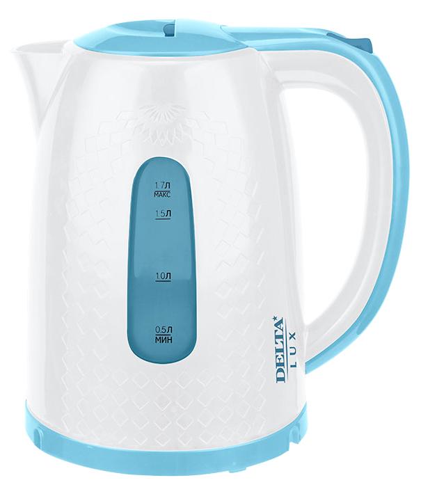 Delta LUX DL-1057, White Blue чайник электрический чайник delta lux dl 1204