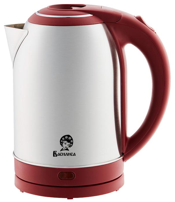 Василиса Т33-2000, Red чайник электрический чайник василиса т32 2000 metallic grey