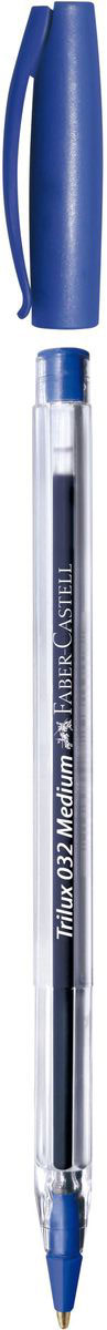 Faber-Castell Ручка шариковая Trilux цвет чернил синий343250Шариковая ручка Faber-Castell станет незаменимым атрибутом учебы или работы. Эргономичная форма, трехгранная область захвата.Вентилируемый колпачок с клипом.Толщина линии: 0,7 мм.