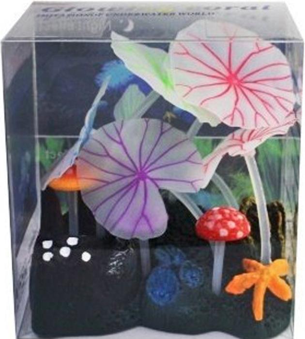 Светящийся декор Meijing Aquarium  Грибы . AM0013-1 - Аксессуары для аквариумов