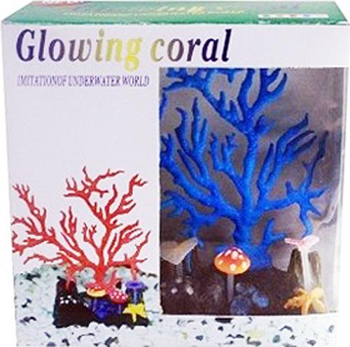 "Фото Светящийся коралл Meijing Aquarium ""Светящийся коралл"", цвет: синий. AM0015B"