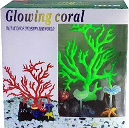 Светящийся коралл Meijing Aquarium Светящийся коралл, цвет: зеленый. AM0015G