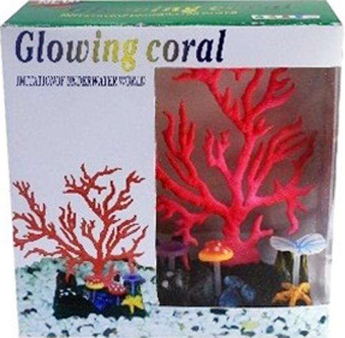 """Фото Светящийся коралл Meijing Aquarium """"Светящийся коралл"""", цвет: красный. AM0015R"""