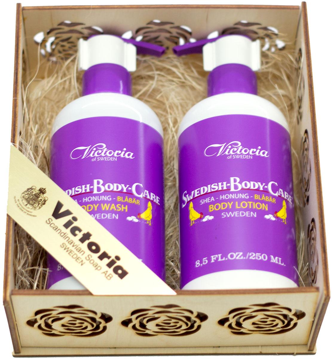 Victoria Soap Набор Гель для душа и Лосьон для тела Черника victoria soap подарочный набор черника