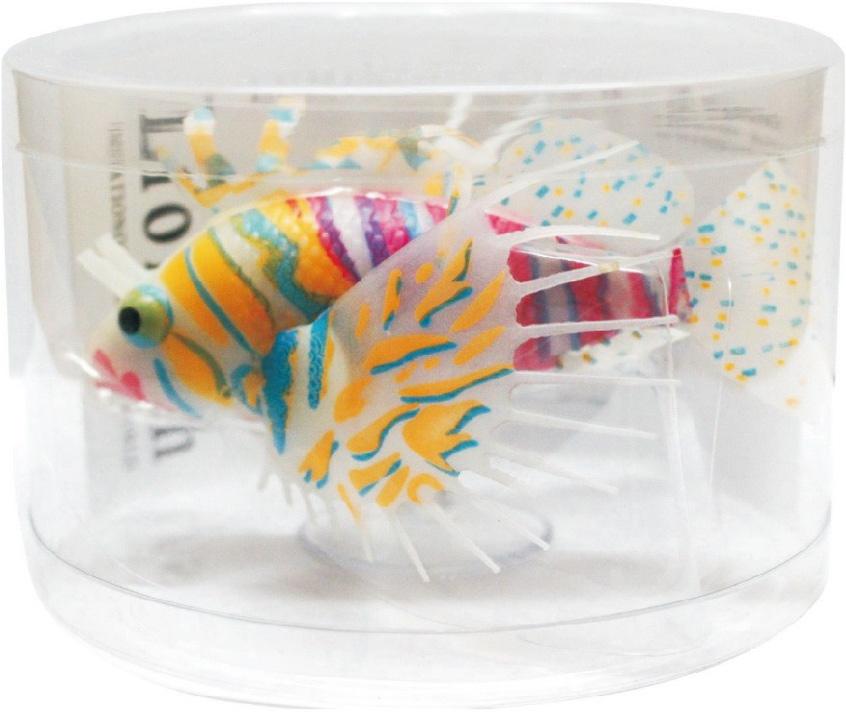 Декорация для аквариума Meijing Aquarium Крылатка, силиконовая. YM-1503ORBYM-1503ORBЗабавная фигурка из силикона изображающая морскую рыбу - крылатку оживит пейзаж любого аквариума. Она может двигаться на течении и шевелить плавниками, плавая на леске, которую крепят к стеклу аквариума присоской. Особенно к месту будет она в аквариуме, оформленном как морской, с дополнительной синей подсветкой, т. к. фигурка обладает сильным флуоресцентным эффектом.