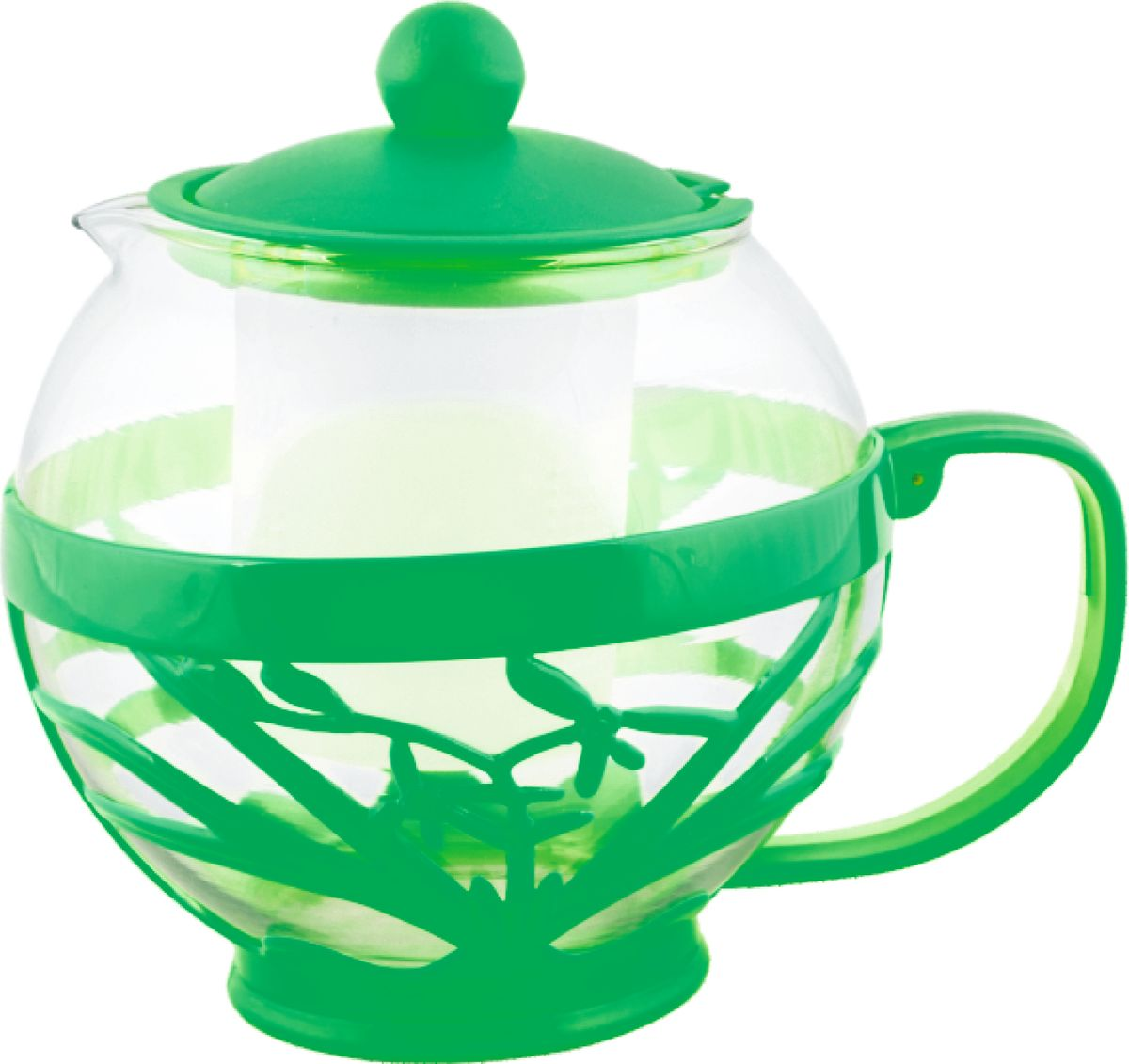 Чайник заварочный Irit, цвет: зеленый, 0,75 л. KTZ-075-006105-105Чайник заварочный 0,75л, термостойкий не нагревающийся пластик, ударостойкое жаропрочное стекло, фильтр из высококачественной нержавеющей стали