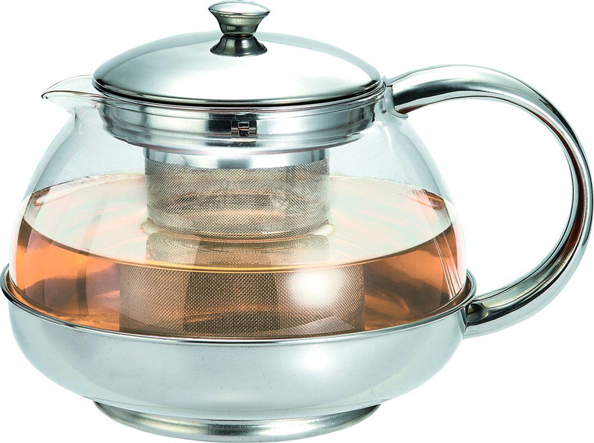 Чайник заварочный Irit, цвет: серебристый, 0,8 лKTZ-080-024Чайник заварочный 0.8 л. Чайник изготовлен из жаропрочного стекла. Фильтр из высококачественной нержавеющей стали. Оправа из стали защищает колбу от ударов и повреждений.