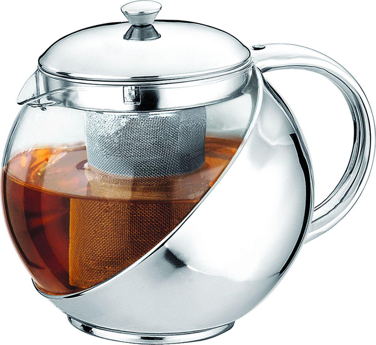 Чайник заварочный Irit, цвет: серебристый, 0,9 лBK-7635Чайник заварочный 0.9 л. Чайник изготовлен из жаропрочного стекла. Фильтр из высококачественной нержавеющей стали. Оправа из стали защищает колбу от ударов и повреждений.