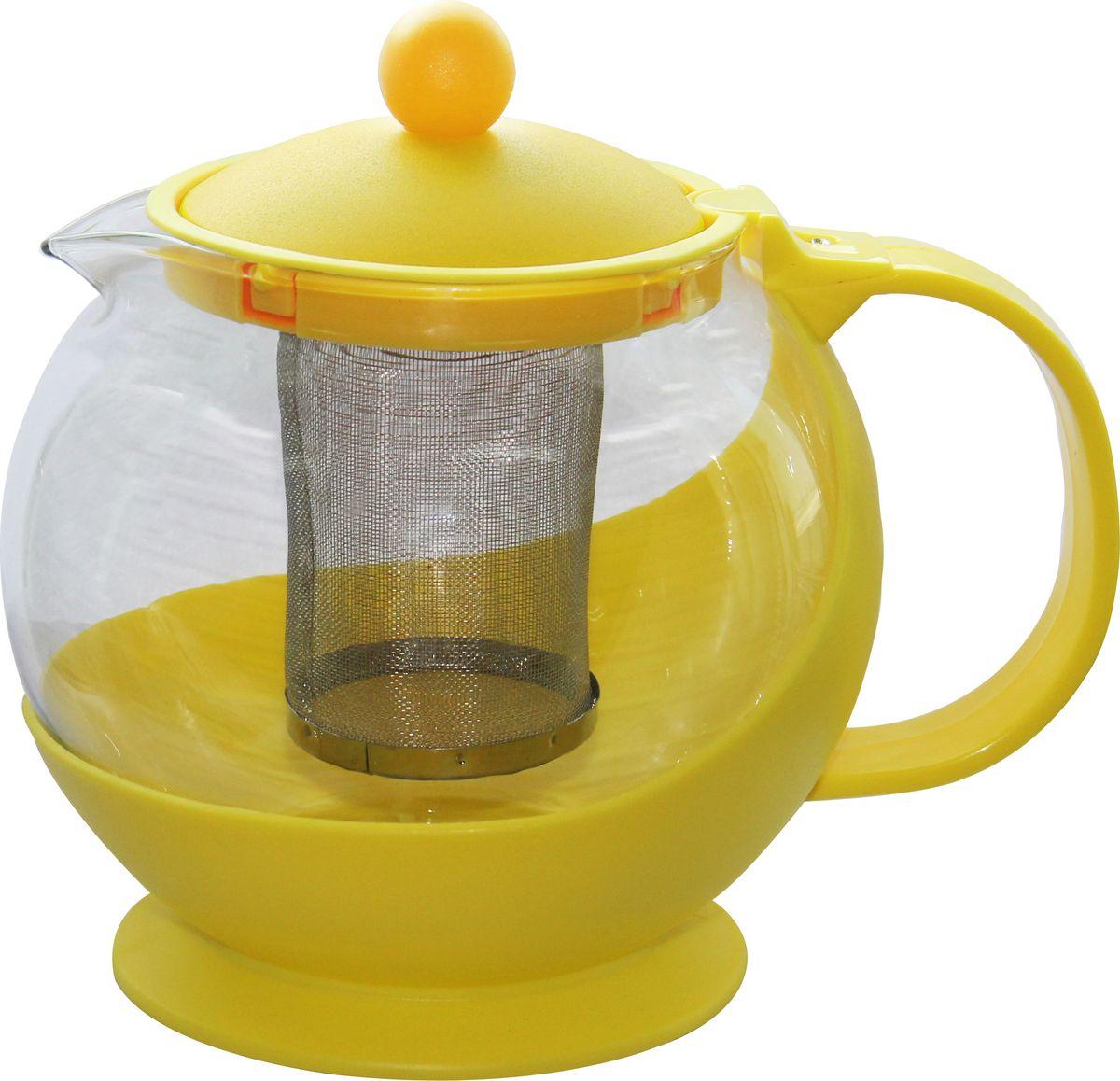 Чайник заварочный Irit, цвет: желтый, 1,25 лKTZ-125-003Чайник заварочный,1,25л, термостойкий не нагревающийся пластик, ударостойкое жаропрочное стекло, фильтр из высококачественной хромо-никелевой нержавеющей стали