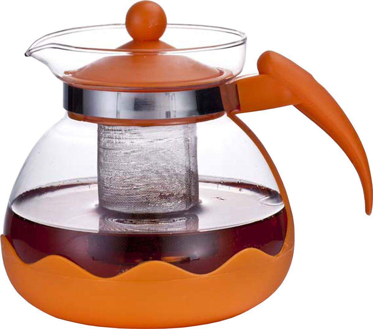 Чайник заварочный Irit, цвет: оранжевый, 1,5 лKTZ-15-004_оранжевыйЧайник заварочный 1,5л, термостойкий не нагревающийся пластик, ударостойкое жаропрочное стекло, фильтр из высококачественной хромо-никелевой нержавеющей стали. ЦВЕТ ОРАНЖЕВЫЙ