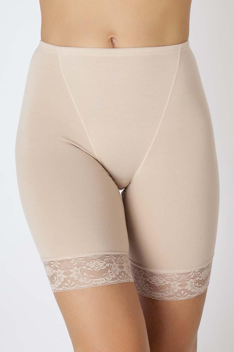 Трусы-панталоны женские Vis-A-Vis, цвет: бежевый. LHP1010. Размер L (48)LHP1010Панталоны из высококачественного бамбука с эластаном, с нежным кружевом по ножке изделия.