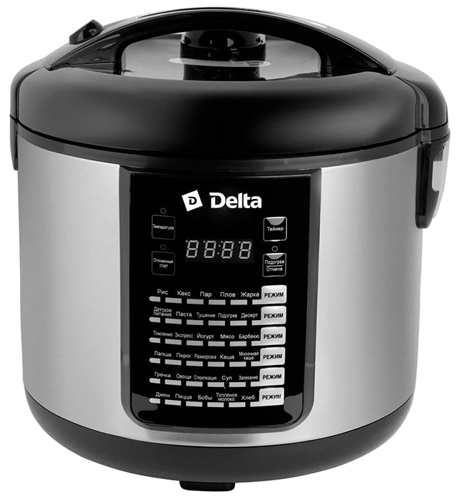 Delta DL-6516, Black мультиварка мультиварка delta dl 6517a