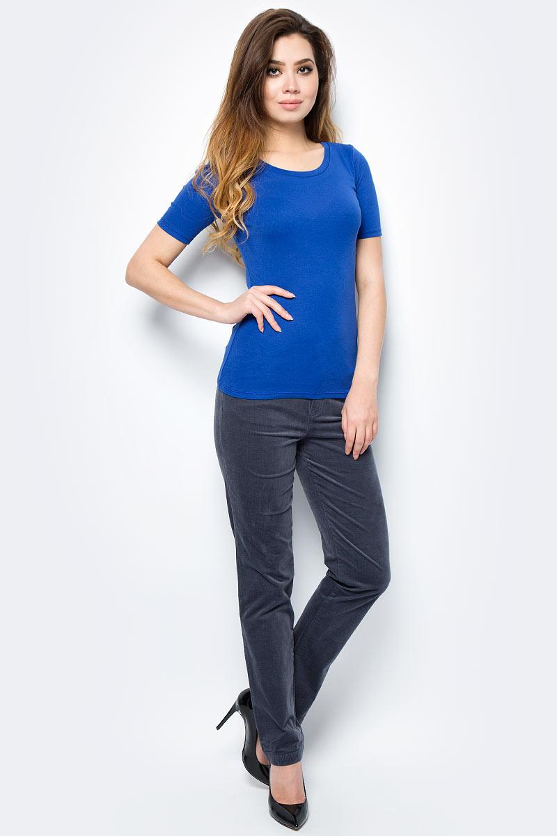 Футболка женская United Colors of Benetton, цвет: синий. 3GA2E1G21_366. Размер XS (40/42)3GA2E1G21_366Футболка женская United Colors of Benetton выполнена из качественного материала. Модель с круглым вырезом горловины и короткими рукавами.