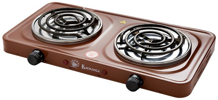 Василиса ПЭ5-2000, Brown плита электрическая - Настольные плиты