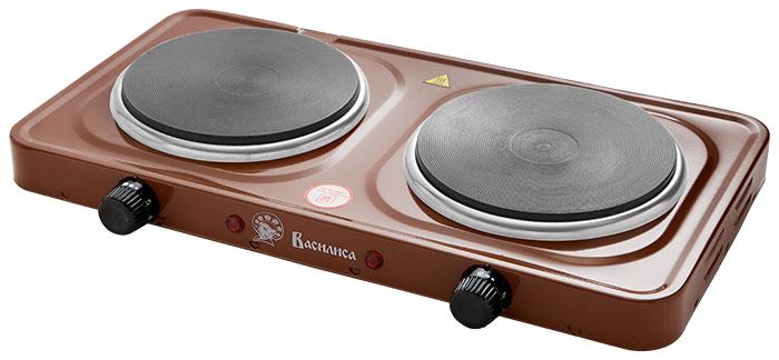 Василиса ПЭ8-2000, Brown плита электрическая чайник василиса т32 2000 metallic grey