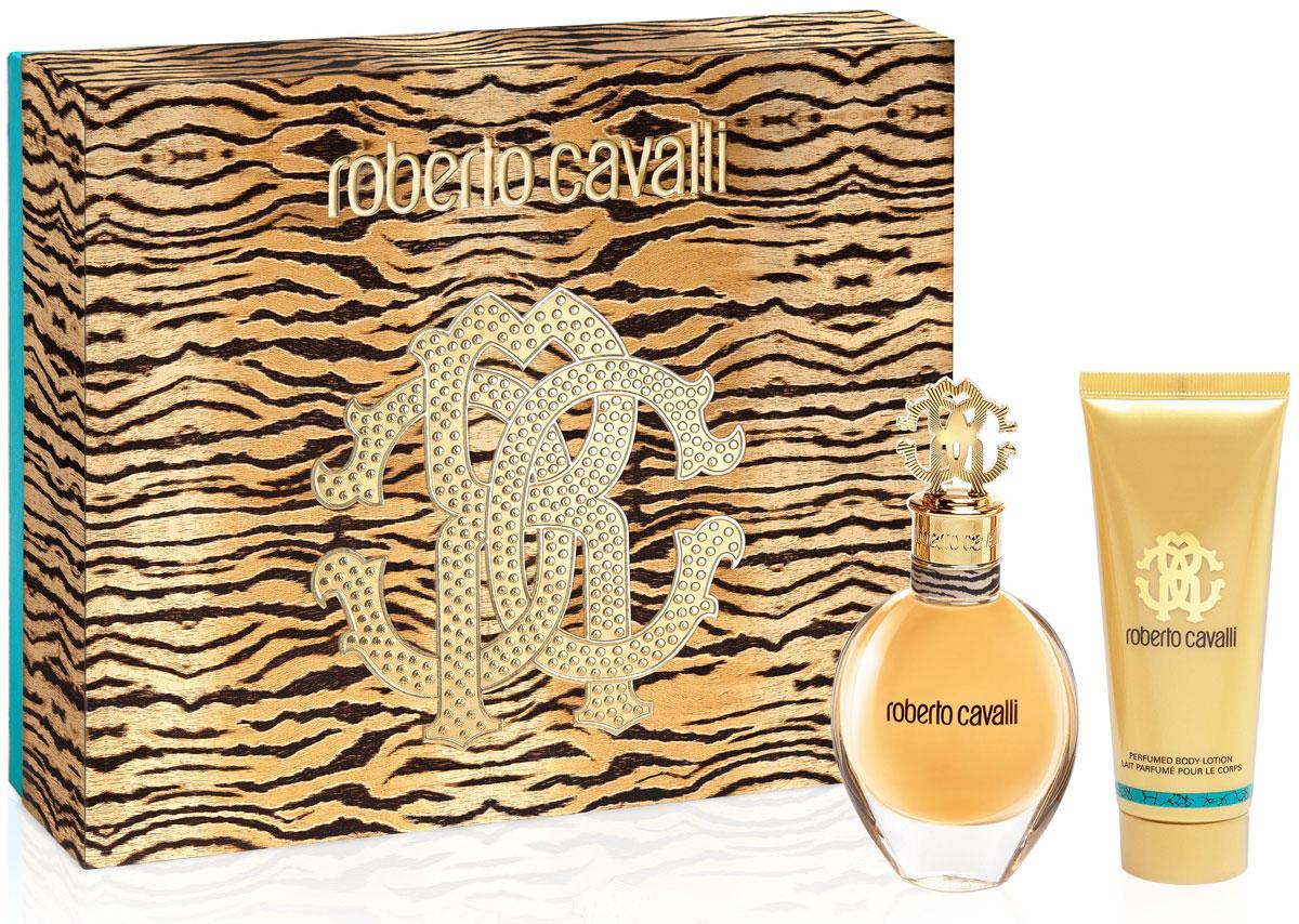 Roberto Cavalli Подарочный набор женский: Парфюмерная вода, 50 мл + Лосьон для тела, 75 мл