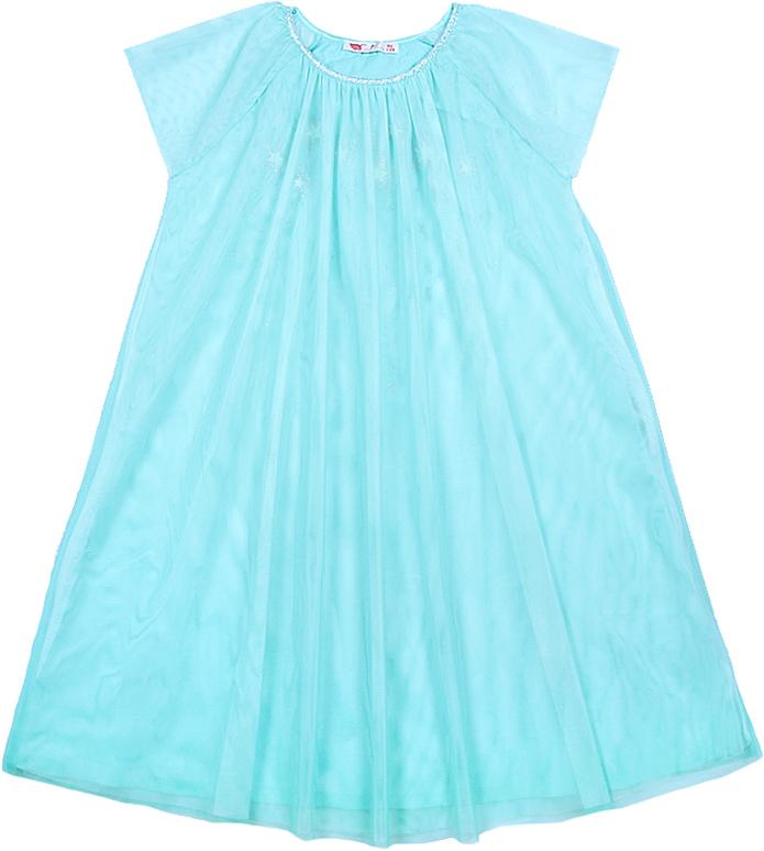 Фото Платье для девочки Cherubino, цвет: бирюзовый. CAJ 61688. Размер 146