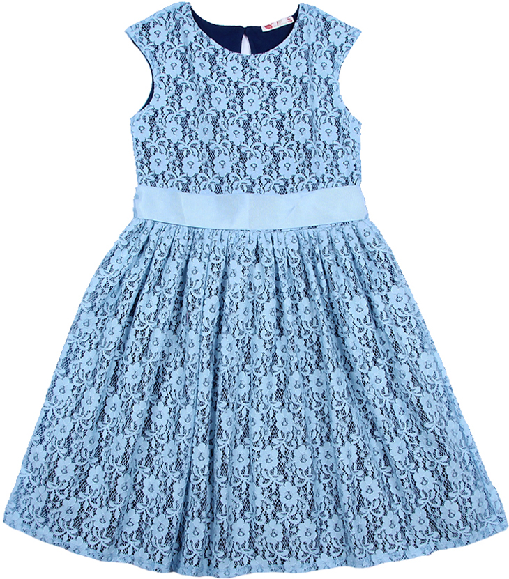 Фото Платье для девочки Cherubino, цвет: голубой. CAJ 61687. Размер 146