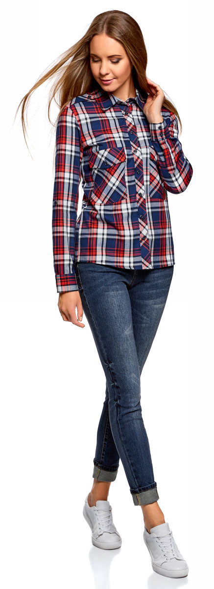 Джинсы женские oodji Ultra, цвет: темно-синий. 12103161/46341/7900W. Размер 29-32 (48-32) джинсы женские oodji ultra цвет темно синий джинс 12103145b 46341 7900w размер 26 32 42 32