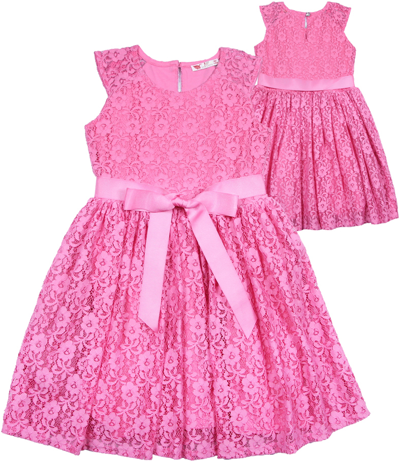 Платье для девочки Cherubino, цвет: розовый. CAK 61682. Размер 116CAK 61682Платье с короткими рукавами, из гладкокрашенного гипюра. Юбка со сборками. Средний слой юбки - жесткая сетка. На талии пояс из сатиновой репсовой ленты. На спинке застежка на пуговицу. Пуговица со стразами.