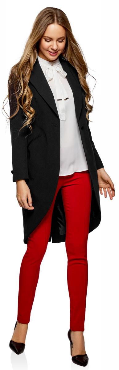 Жакет женский oodji Ultra, цвет: черный. 11200101/18600/2900N. Размер 44-170 (50-170)11200101/18600/2900N