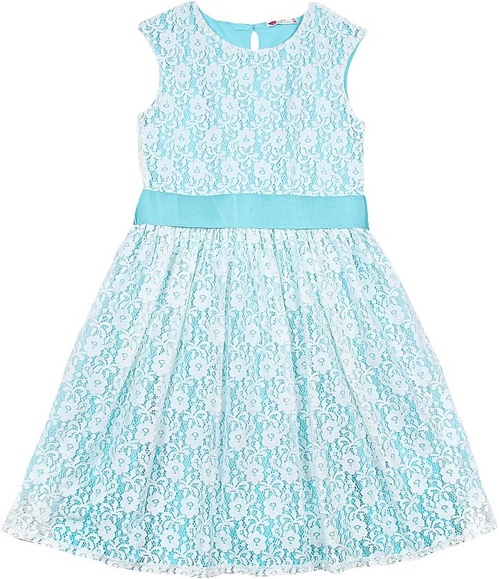 Фото Платье для девочки Cherubino, цвет: экрю. CAJ 61687. Размер 146