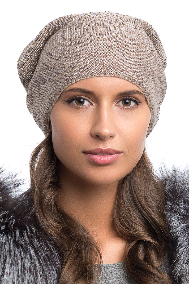 Шапка женская Nuages, цвет: серый. NH-708/04. Размер универсальный - Зимняя рыбалка