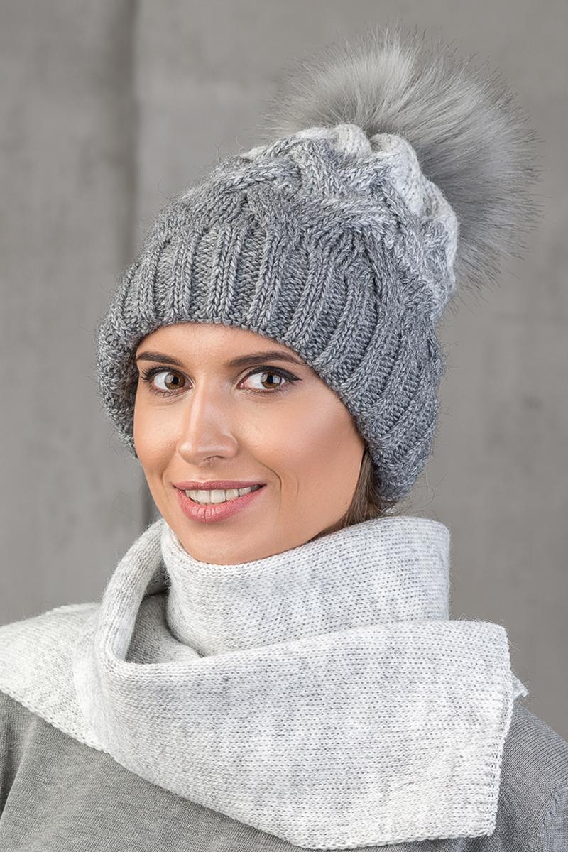 Шапка женская Nuages, цвет: серый. NH-748/016. Размер универсальный - Зимняя рыбалка