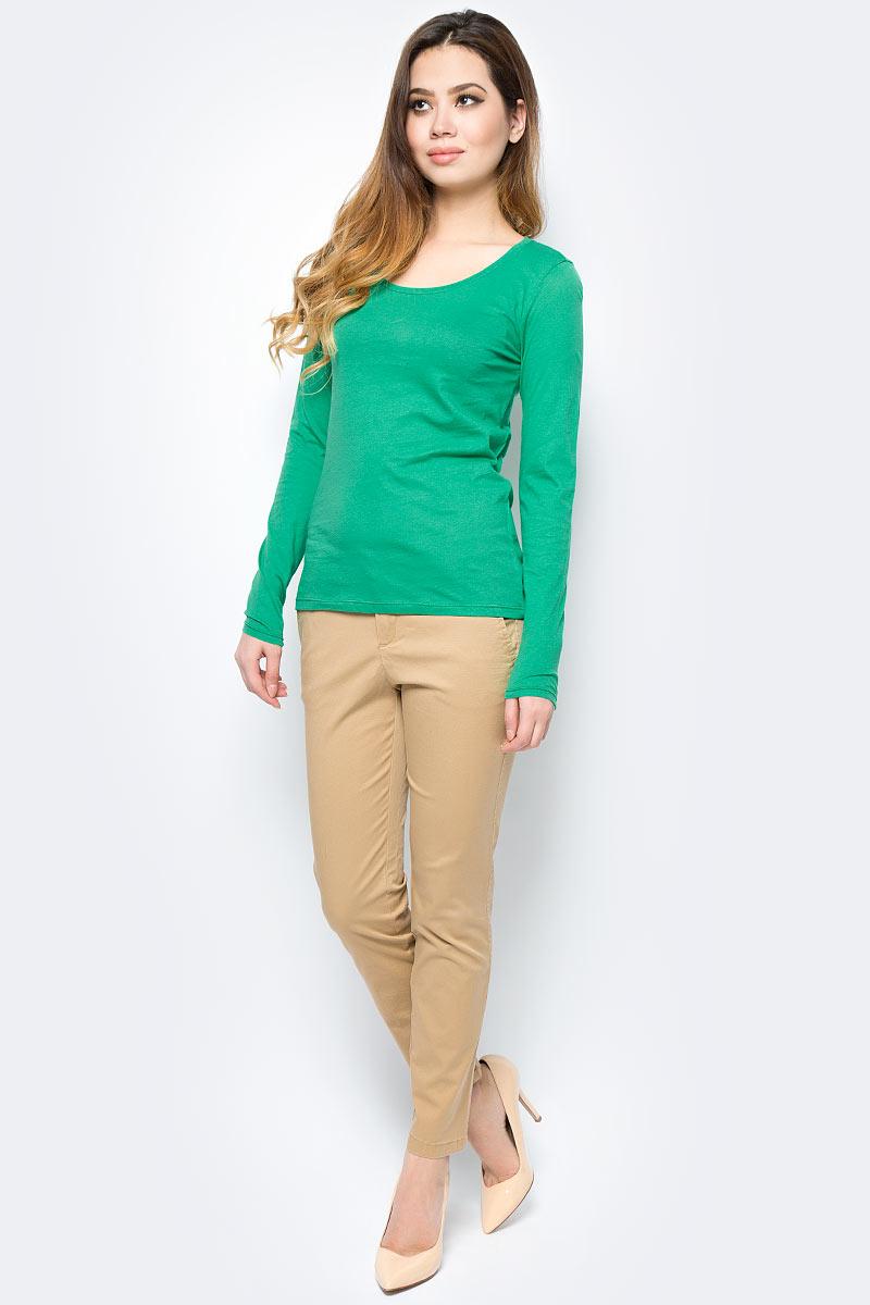 Лонгслив женский United Colors of Benetton, цвет: зеленый. 3I97E1F54_07K. Размер S (42/44)3I97E1F54_07KЛонгслив женский United Colors of Benetton выполнен из натурального хлопка. Модель с круглым вырезом горловины и длинными рукавами.