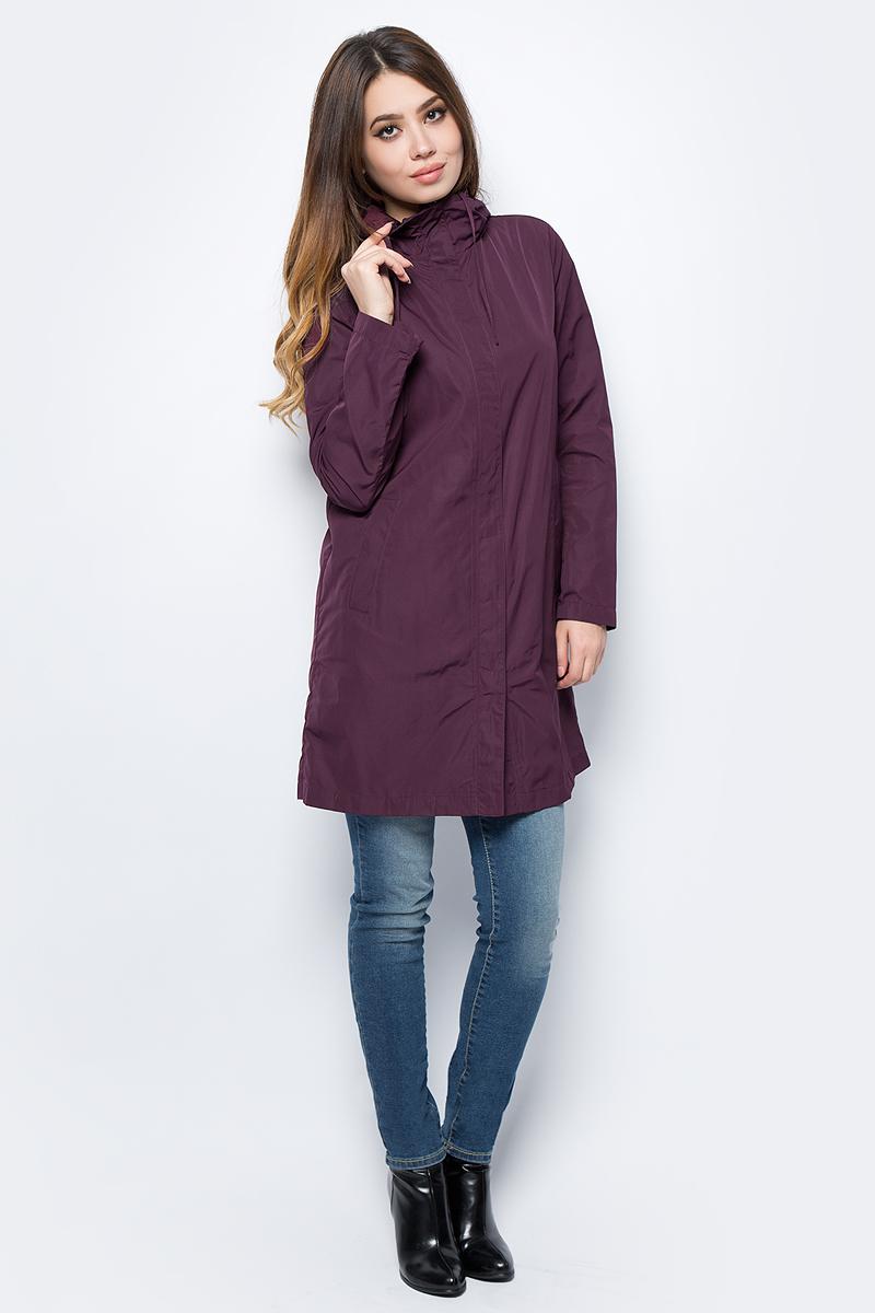 Куртка женская United Colors of Benetton, цвет: бордовый. 2EH1533K5_28Z. Размер 40 (42)2EH1533K5_28ZКуртка женская United Colors of Benetton выполнена из полиэстера. Модель с капюшоном и длинными рукавами застегивается на комбинированную застежку.