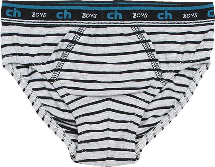 Трусы-слипы для мальчика Cherubino, цвет: серый меланж, черный. CAJ 1407. Размер 146
