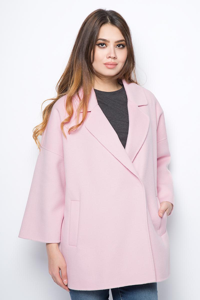Пальто женское United Colors of Benetton, цвет: розовый. 2DI6533L3_04U. Размер 40 (42)